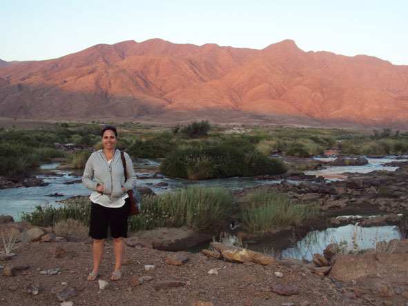 Liesel van Zyl - at the flowing Kunene River