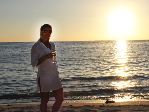 Ashley Gerrand - sunset in Mauritius