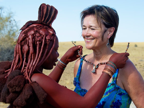 Serra Cafema Camp - Local Himba people