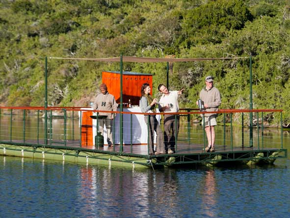 Bird watching at Kwandwe is best done from the river!