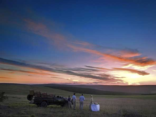 Sunset & drinks at Gorah Camp, set deep in Addo Elephant Park.