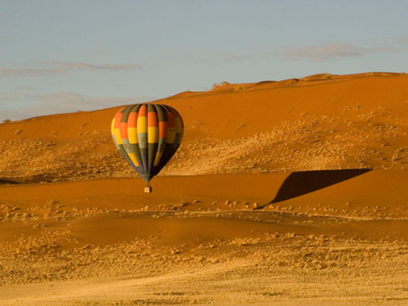 The scale of Namibia's vast dune fields is best appreciated from the air.