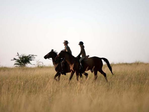 Safari destinations in both Southern & East Africa offer horseback game viewing.