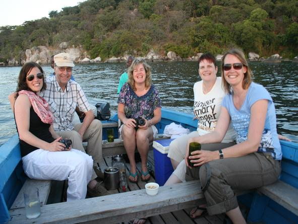 Ramona Rubach - on a lagoon cruise around Mombo Island in Malawi