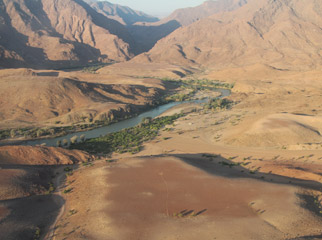 Our Recent Travels - Namibia: river down below