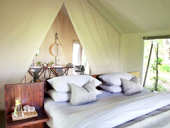 Machaba Camp - Spacious tents
