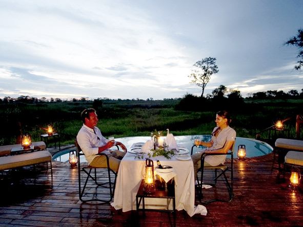 Exclusive Botswana Luxury Safari - Private lantern lit dining