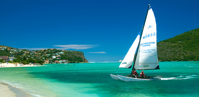 A Garden Route Road Trip - enjoy a catamaran cruise on the Knysna lagoon