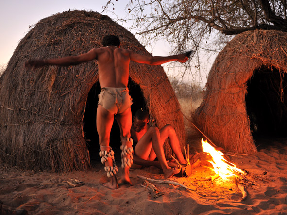 Luxury Kalahari Desert Expedition - San Bushman village