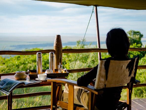 Kilima Mara Camp - Private verandahs