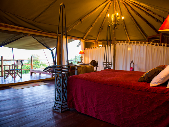 Kilima Mara Camp - Spacious tents