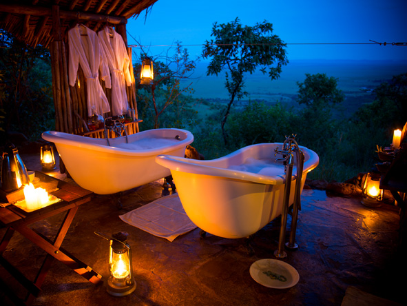 Kilima Mara Camp - Alfresco baths