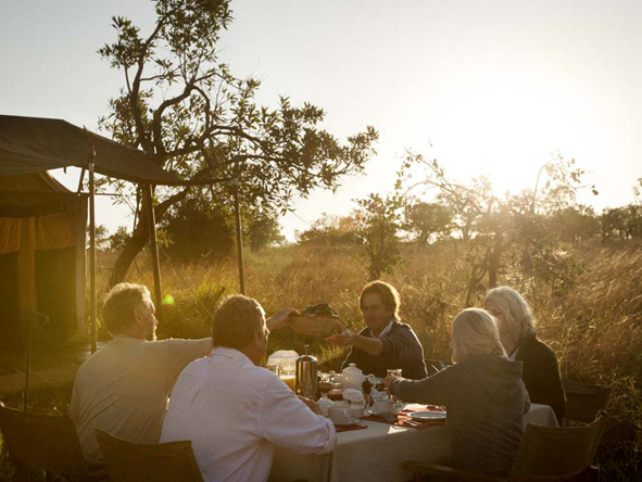 Tanzania Family Adventure - Alfresco dining