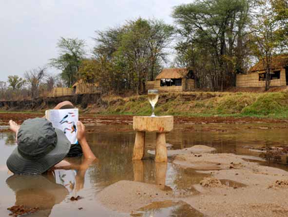 Mwaleshi Bush Camp - Safe, shallow waters