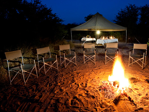 Botswana Summer Encounter - Fireside drinks