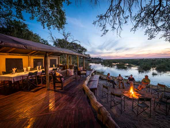 Botswana Summer Encounter - Riverside deck