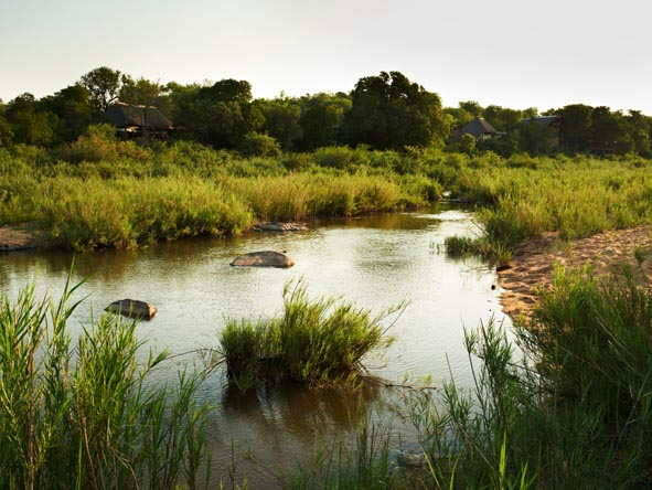 The Sand River separates the Kruger National Park from the Sabi Sands, and can flood in season.