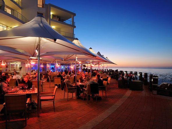 Soak up the atmosphere at one of the many beach restaurants and bars; a summer's evening is particularly enjoyable.