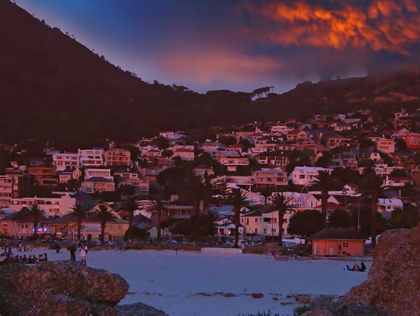 Famous Camps Bay is one of the most popular and trendy Cape Town coastal suburbs.