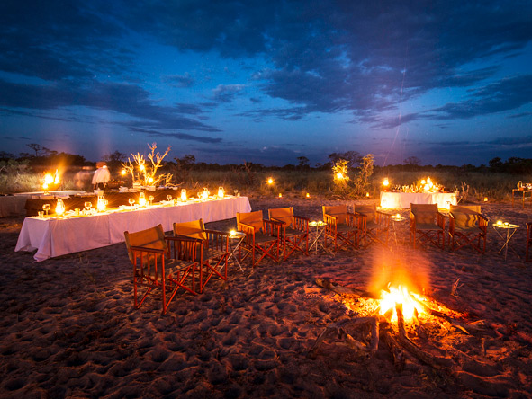 Vumbura Plains - Alfresco dining