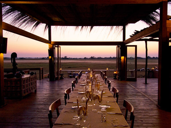 Shumba Bush Camp - Alfresco dining