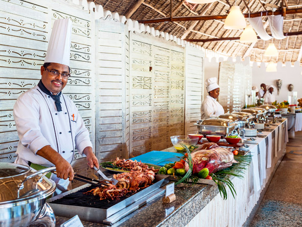 Mapenzi Beach Club - Fresh seafood buffets