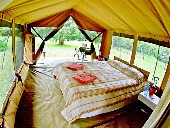 Porini Bush Camp - Spacious tents