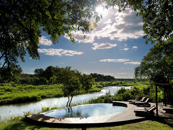 Lion Sands Tinga Lodge - Infinity swimming pool