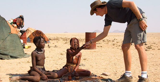 Top Cultural Experiences in Africa - meeting two Himba girls