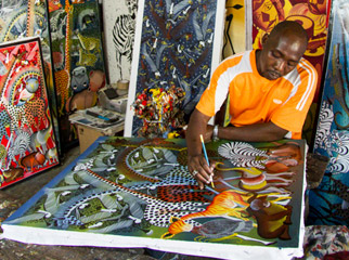 Top Cultural Experiences in Africa - painter in Stone Town