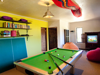 Christmas in Africa - games room at The Villa at Hog Hollow