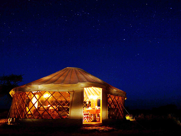 Serengeti Safari Experience - Yurt-style accommodation