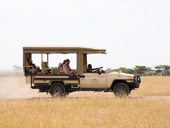 Mahali Mzuri - Open-sided safari vehicles