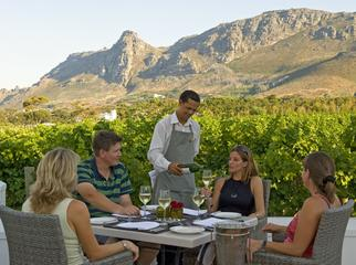 Africa's Top 5 Golf Destinations - gourmet eating in the Winelands
