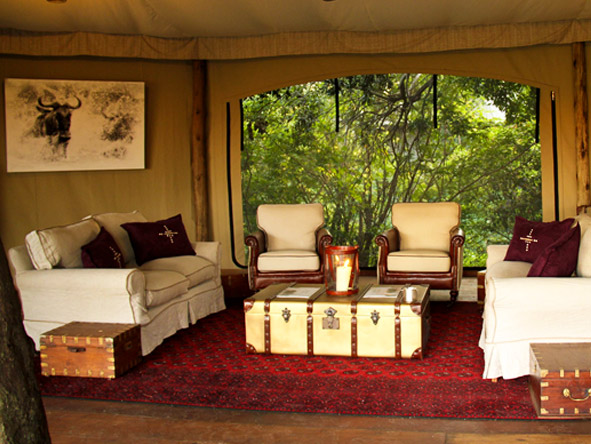Mara Plains Camp - Spacious lounges