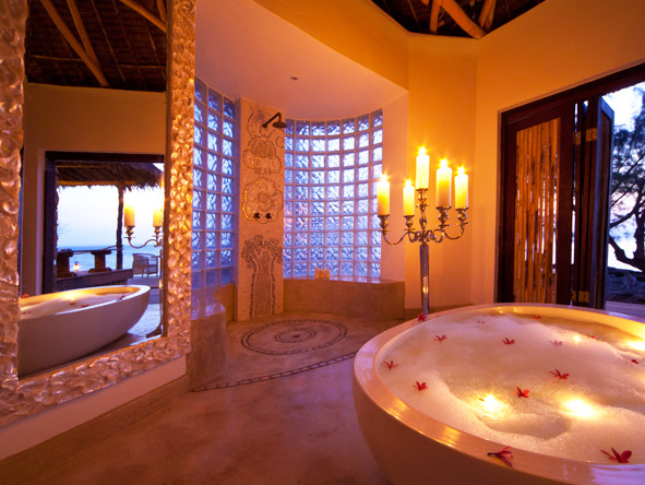 Azura @ Quilalea Private Island - Bubble bath