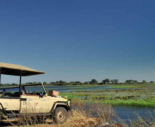 As well as enjoying boat safaris, you'll explore the Chobe River floodplains in an open-sided 4X4 vehicle.