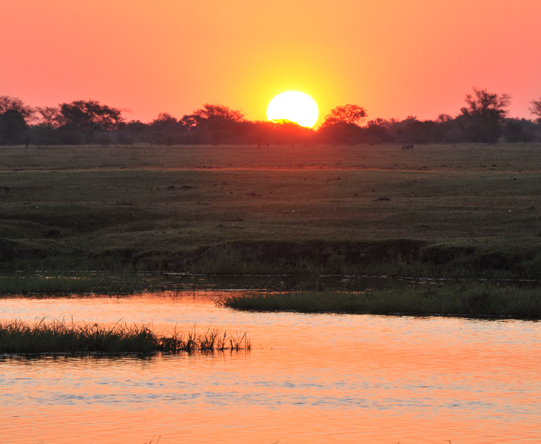 The Chobe River has a reputation for mesmerising sunsets - best enjoyed with a cold drink in hand!