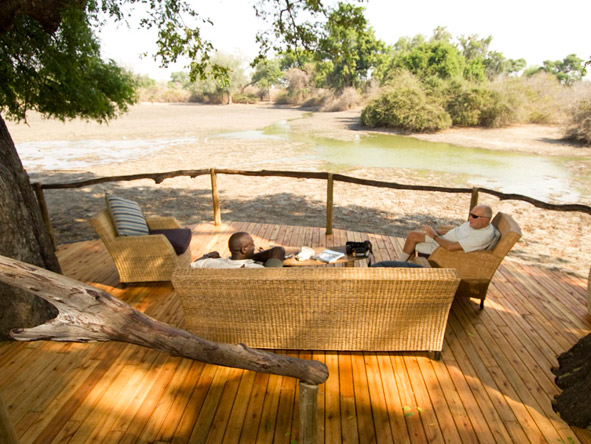 Accommodation at Mana Pools takes advantage of waterside settings to deliver easy armchair game viewing.