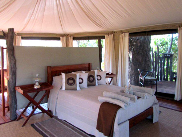 Accommodation at Mana Pools is limited to a handful of tucked-away luxury tented camps.