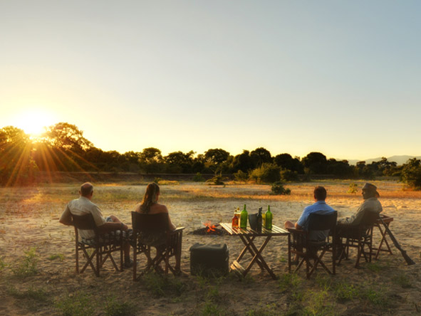 You may find your afternoon walking safari ends up with comfortable chairs & ice-cold drinks.