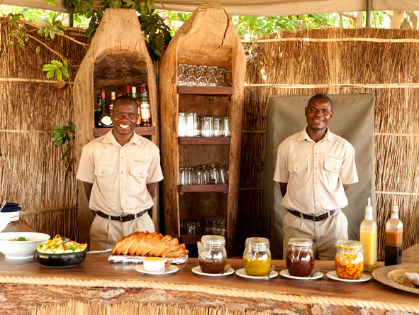 Your lodge's remote location doesn't mean you'll go hungry - sumptuous meals are served three times a day.