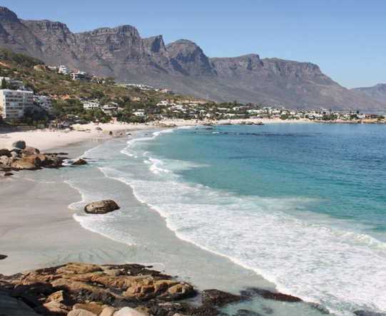 Several honeymoon villas sit on the mountain slopes above glamorous, sunset-facing Camps Bay.