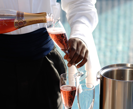 End the day with a glass of bubbles - though you're welcome to start with one as well!