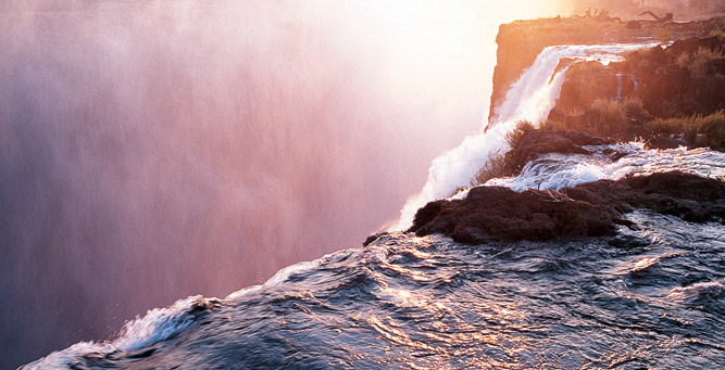 Things to Do in Zambia - frothing Victoria Falls, before the plunge