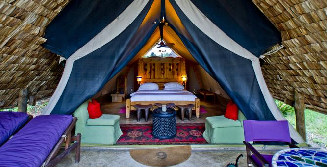 Luxury Migration, Lake & Crater Safari - luxury tent at Grumeti Serengeti Tented Camp