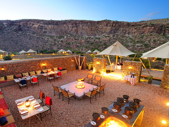 Dwyka Tented Lodge - Alfresco dining