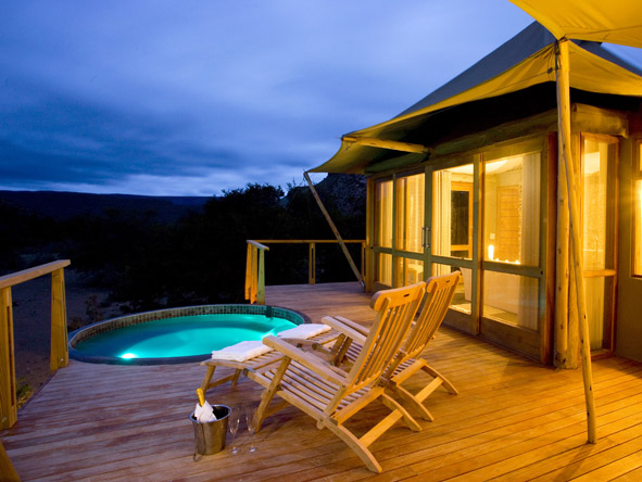 Dwyka Tented Lodge - Private plunge pool