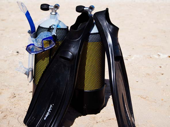 Diving resorts provide all the equipment you'll need; most offer free snorkelling gear too.