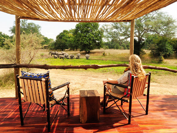 Walk the South Luangwa - Private verandah